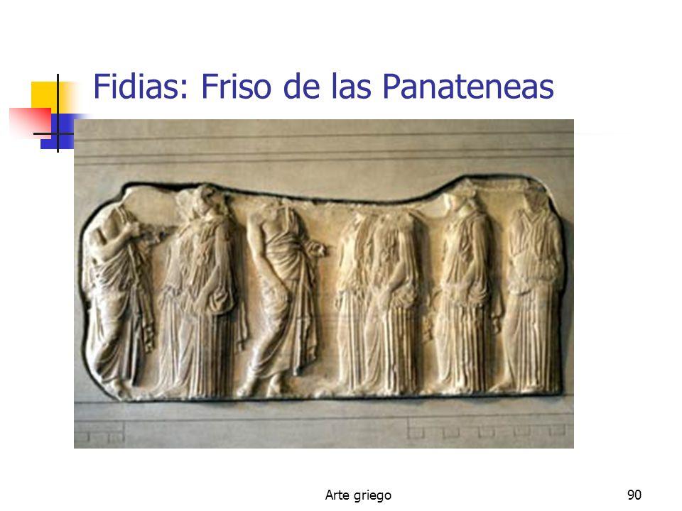Arte griego90 Fidias: Friso de las Panateneas