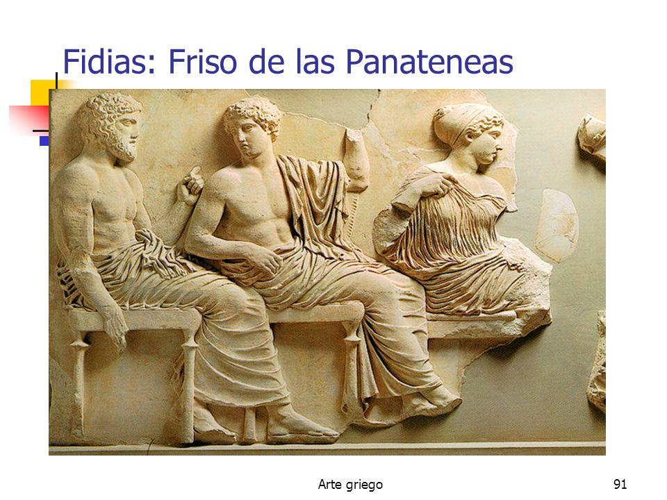 Arte griego91 Fidias: Friso de las Panateneas