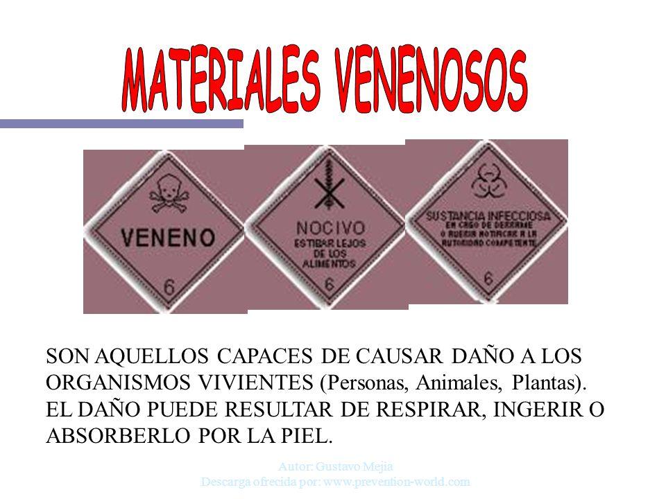 Autor: Gustavo Mejia Descarga ofrecida por: www.prevention-world.com SON AQUELLOS CAPACES DE CAUSAR DAÑO A LOS ORGANISMOS VIVIENTES (Personas, Animale
