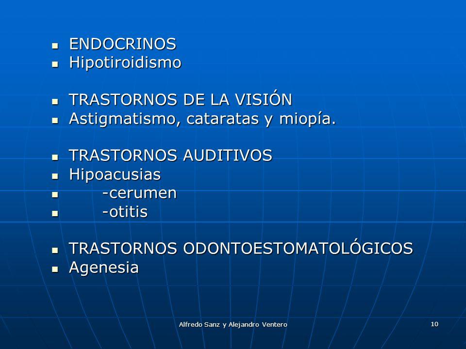Alfredo Sanz y Alejandro Ventero 10 ENDOCRINOS ENDOCRINOS Hipotiroidismo Hipotiroidismo TRASTORNOS DE LA VISIÓN TRASTORNOS DE LA VISIÓN Astigmatismo,