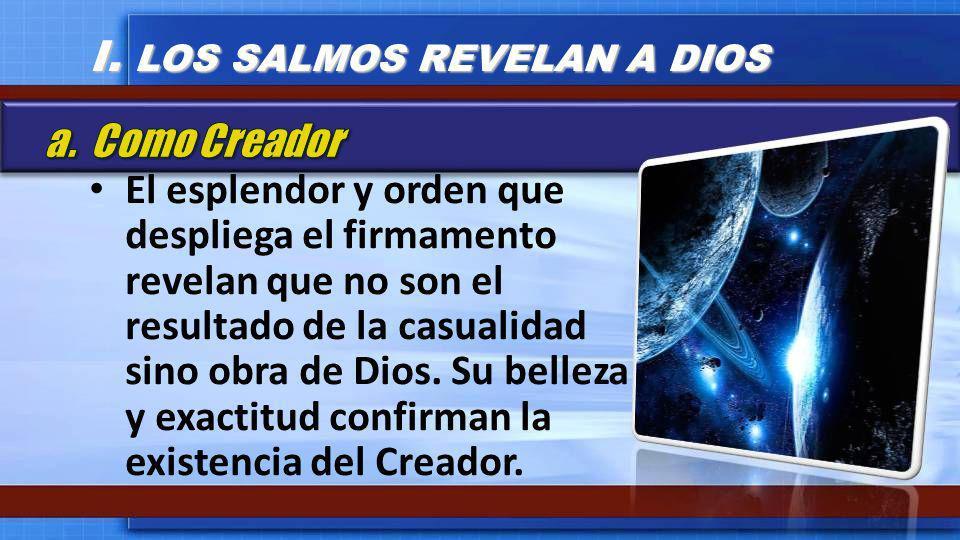 El esplendor y orden que despliega el firmamento revelan que no son el resultado de la casualidad sino obra de Dios. Su belleza y exactitud confirman