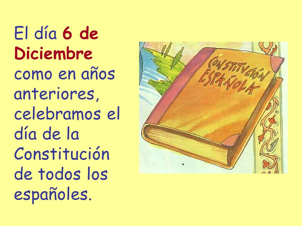 El día 6 de Diciembre como en años anteriores, celebramos el día de la Constitución de todos los españoles.