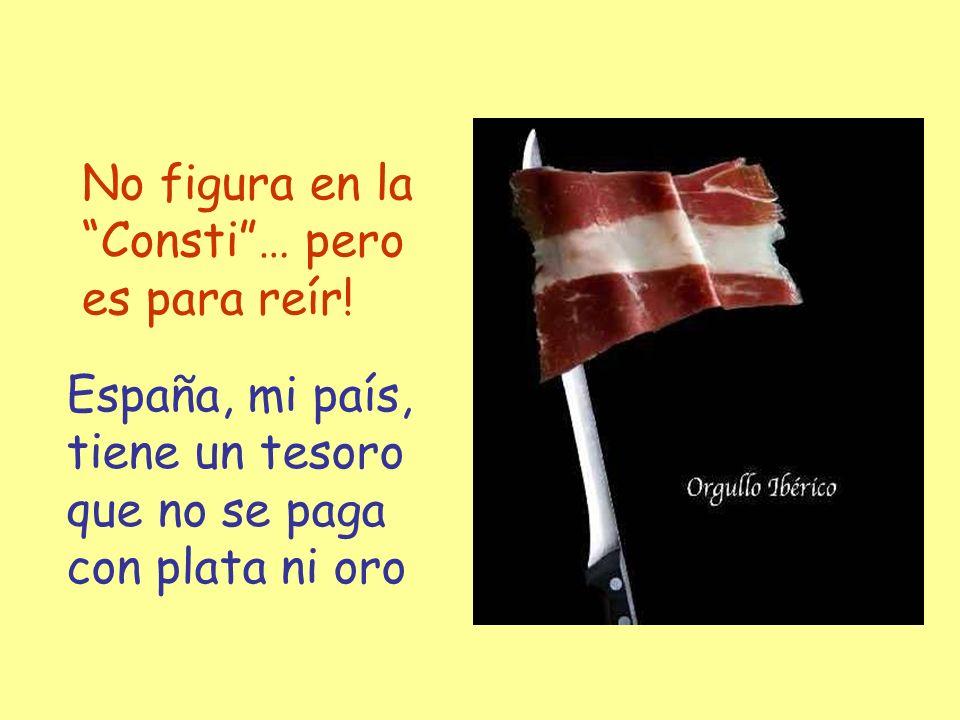 España, mi país, tiene un tesoro que no se paga con plata ni oro No figura en la Consti… pero es para reír!