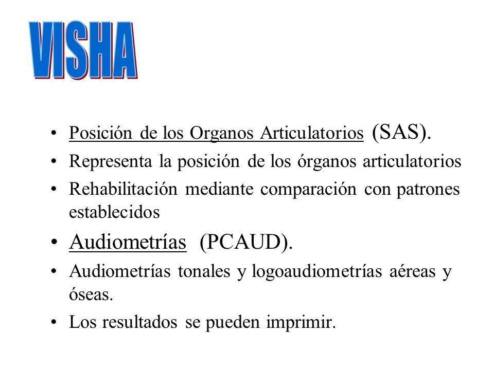 Posición de los Organos Articulatorios (SAS). Representa la posición de los órganos articulatorios Rehabilitación mediante comparación con patrones es