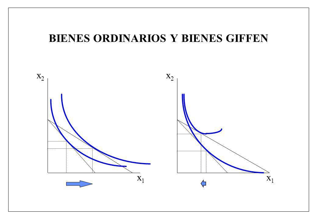 BIENES ORDINARIOS Y BIENES GIFFEN x1x1 x2x2 x1x1 x2x2