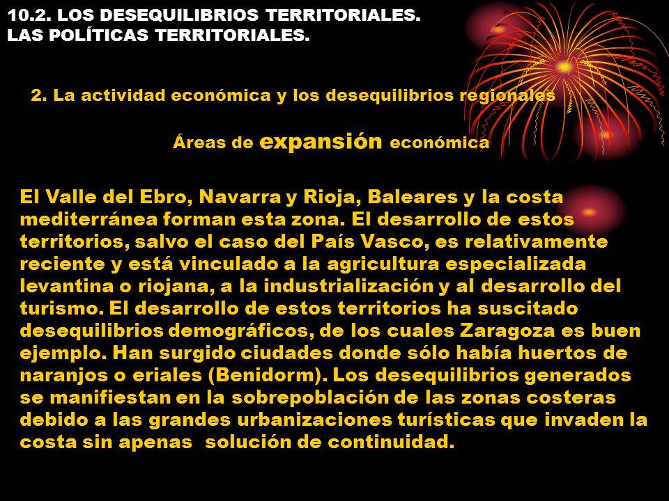 10.2. LOS DESEQUILIBRIOS TERRITORIALES. LAS POLÍTICAS TERRITORIALES. 2. La actividad económica y los desequilibrios regionales El Valle del Ebro, Nava