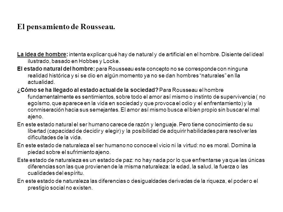 El pensamiento de Rousseau.