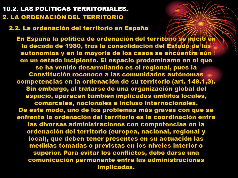 10.2. LAS POLÍTICAS TERRITORIALES. 2.