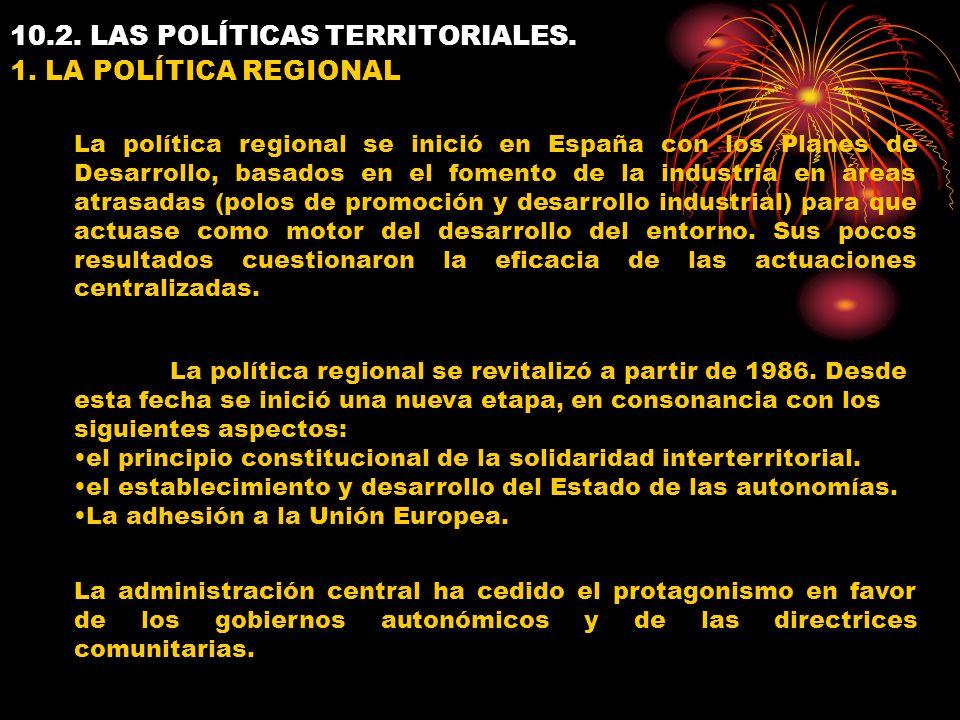 10.2. LAS POLÍTICAS TERRITORIALES. 1.
