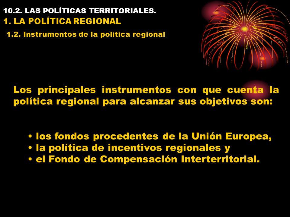 10.2. LAS POLÍTICAS TERRITORIALES. 1. LA POLÍTICA REGIONAL 1.2.