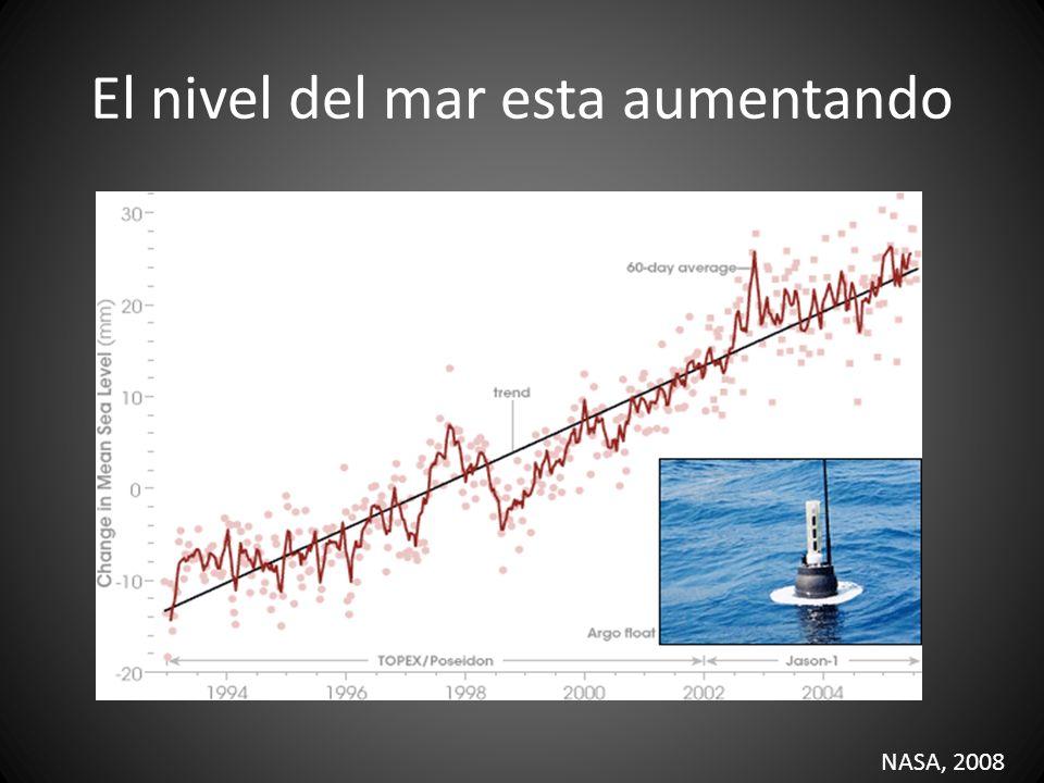 El nivel del mar esta aumentando NASA, 2008