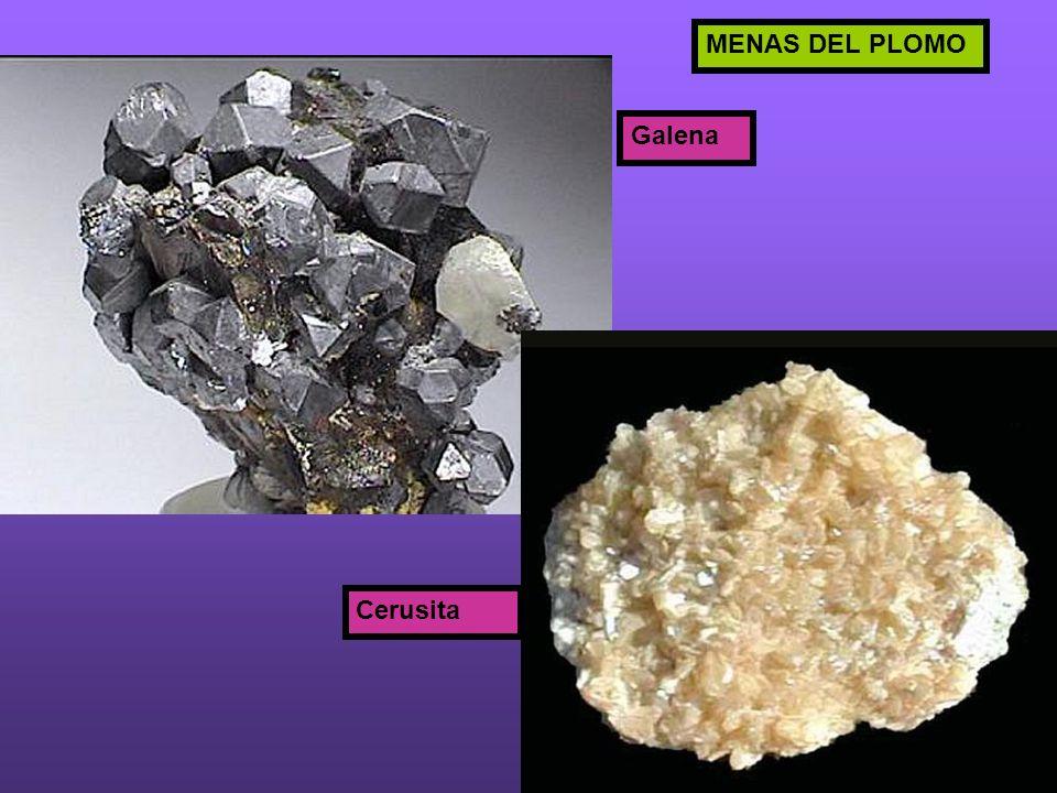 Galena Cerusita MENAS DEL PLOMO