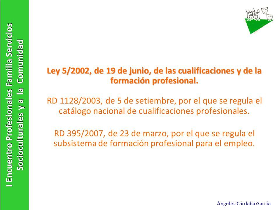 Ley 5/2002, de 19 de junio, de las cualificaciones y de la formación profesional. Ley 5/2002, de 19 de junio, de las cualificaciones y de la formación