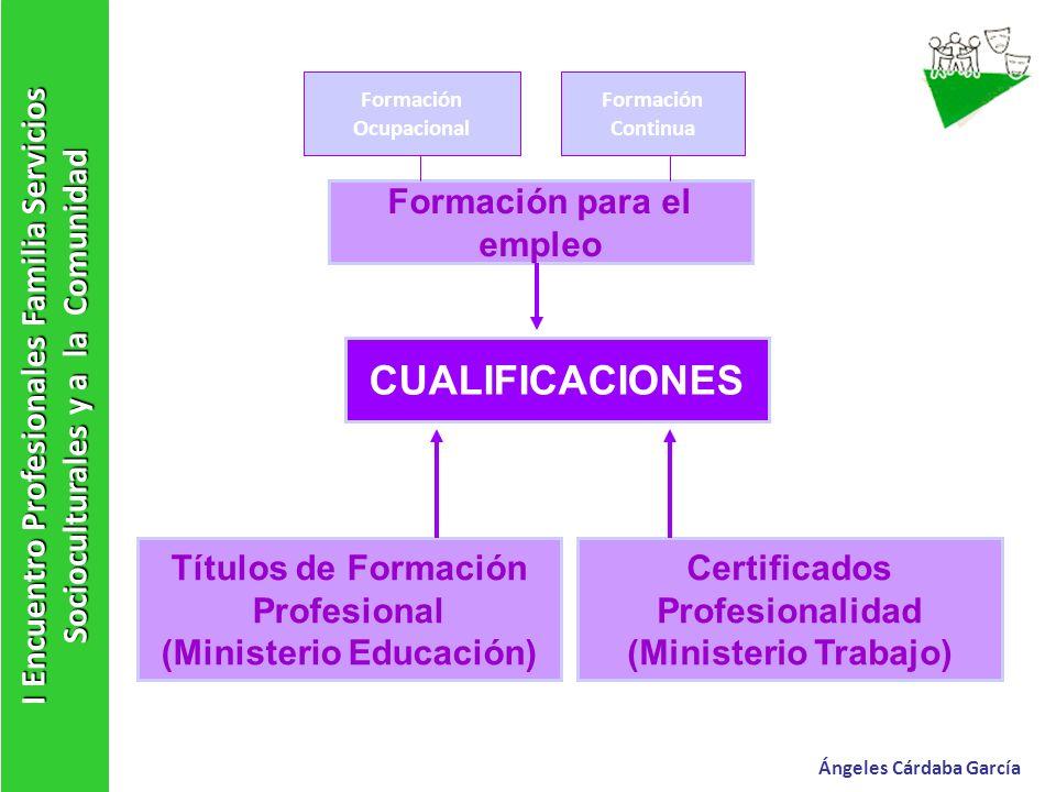 I Encuentro Profesionales Familia Servicios Socioculturales y a la Comunidad Títulos de Formación Profesional (Ministerio Educación) Certificados Prof