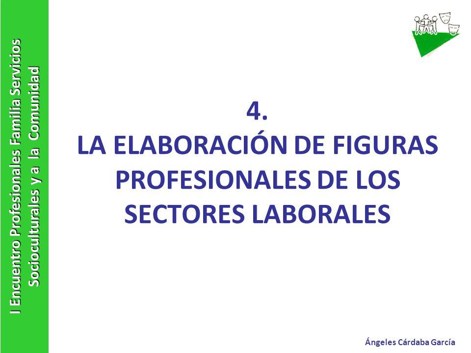 4. LA ELABORACIÓN DE FIGURAS PROFESIONALES DE LOS SECTORES LABORALES I Encuentro Profesionales Familia Servicios Socioculturales y a la Comunidad Ánge