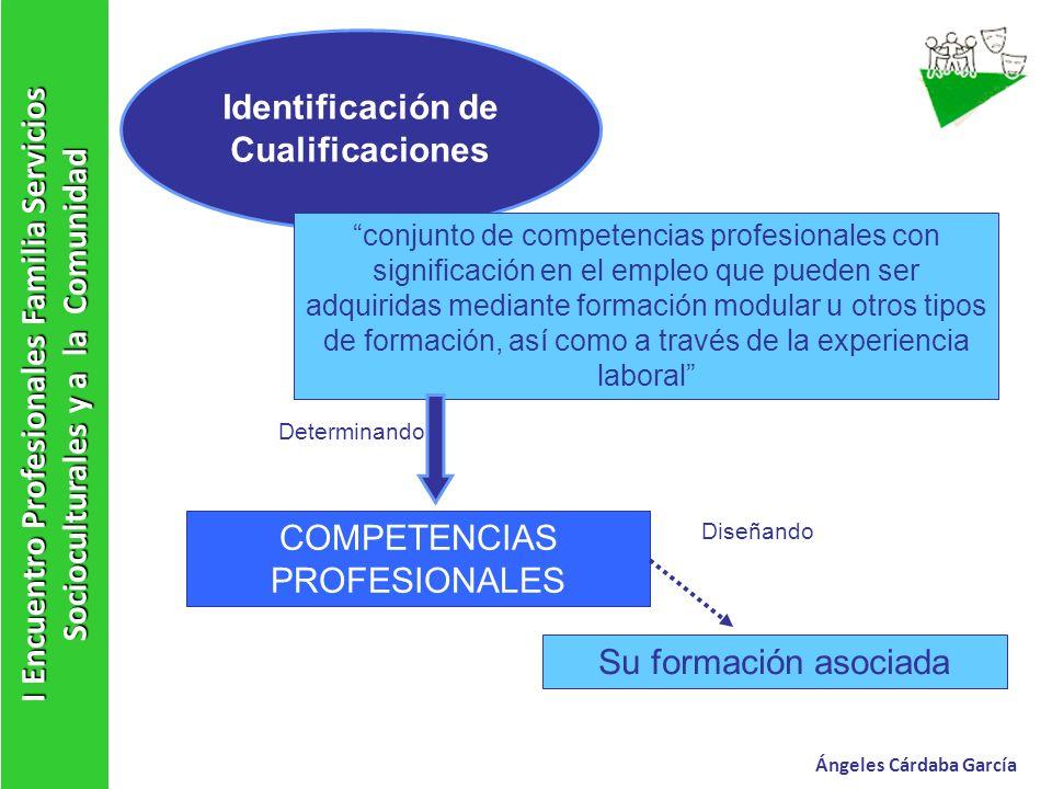 I Encuentro Profesionales Familia Servicios Socioculturales y a la Comunidad Ángeles Cárdaba García Identificación de Cualificaciones conjunto de comp