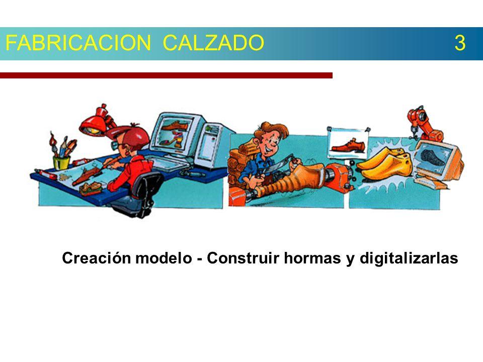 FABRICACION CALZADO 3 Creación modelo - Construir hormas y digitalizarlas