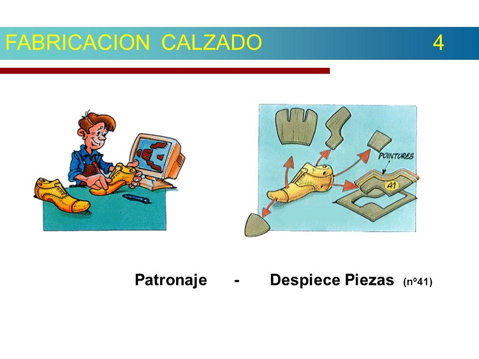 FABRICACION CALZADO 4 Patronaje - Despiece Piezas (nº41)
