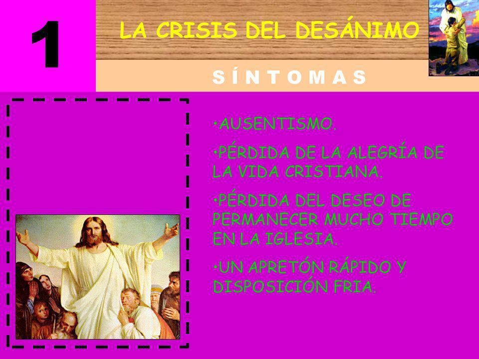 LA CRISIS DEL DESÁNIMO D E S C R I P C I Ó N 1 No puede cumplir su compromiso público (bautismo). Los viejos hábitos lo asaltan. (vicios). Su estima p