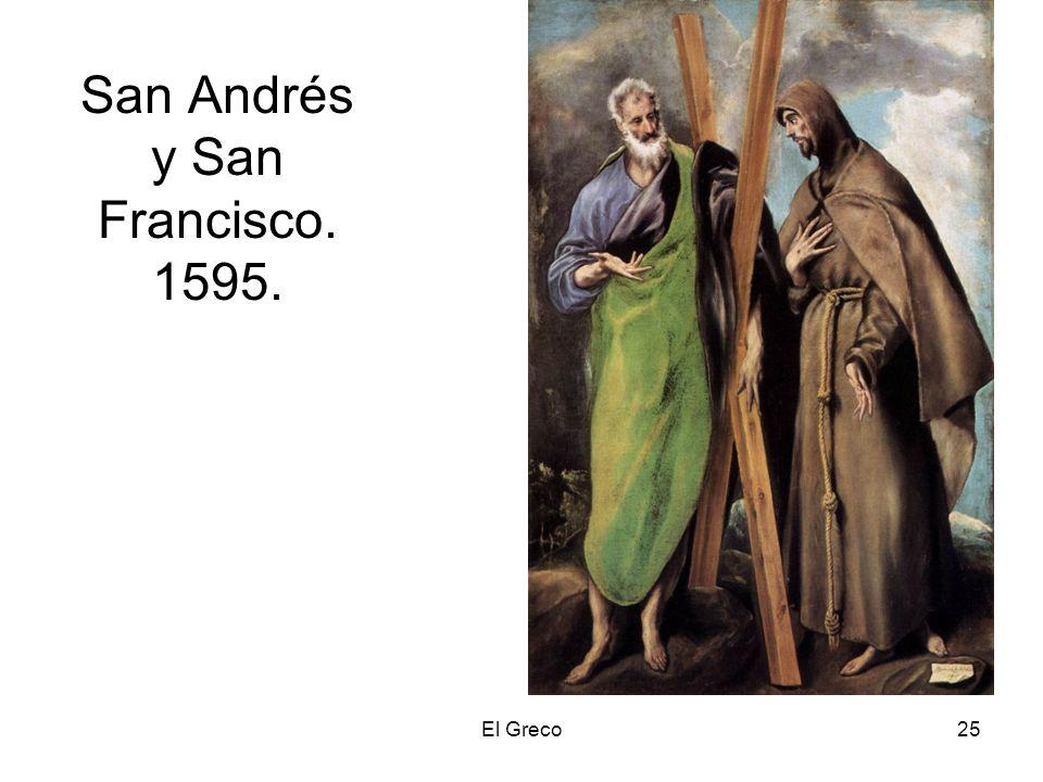 El Greco25 San Andrés y San Francisco. 1595.