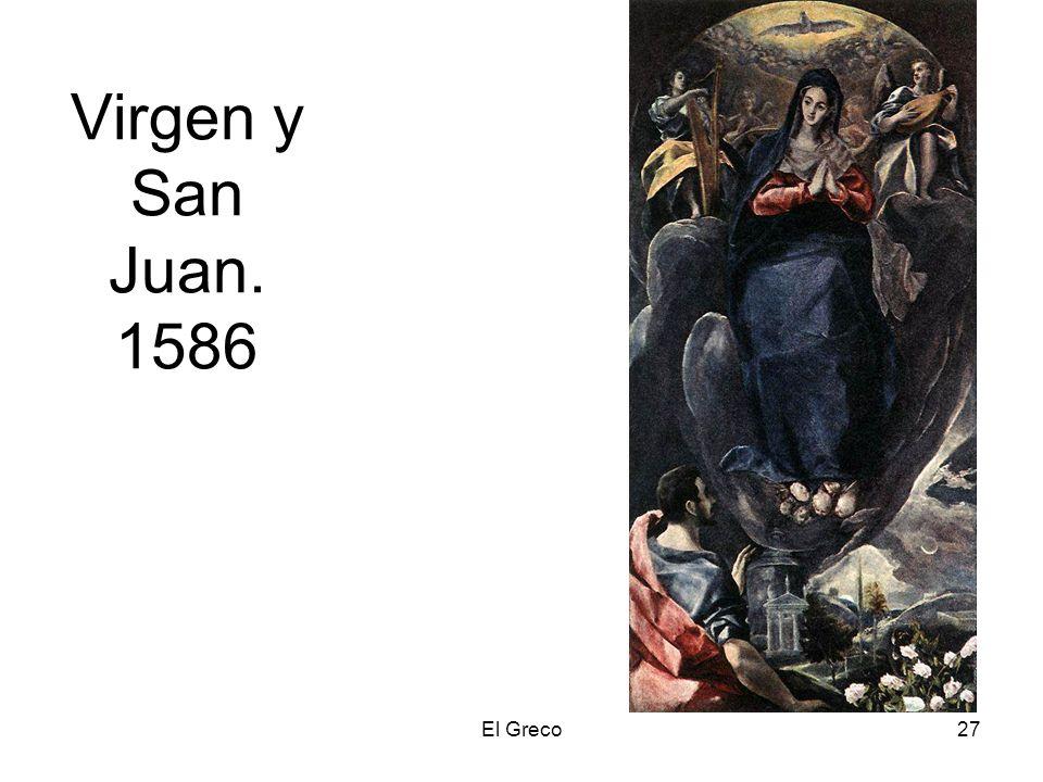 El Greco27 Virgen y San Juan. 1586