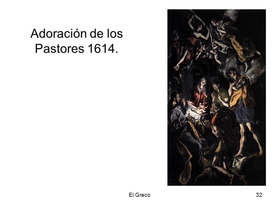 El Greco32 Adoración de los Pastores 1614.
