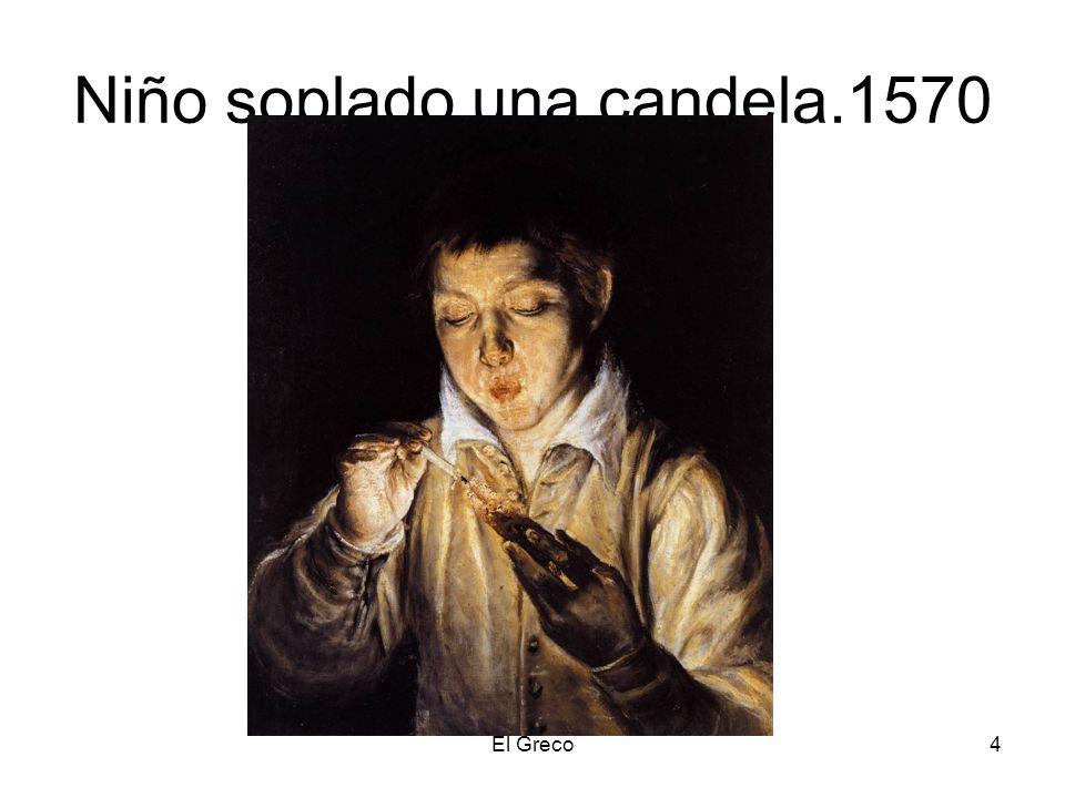 El Greco4 Niño soplado una candela.1570