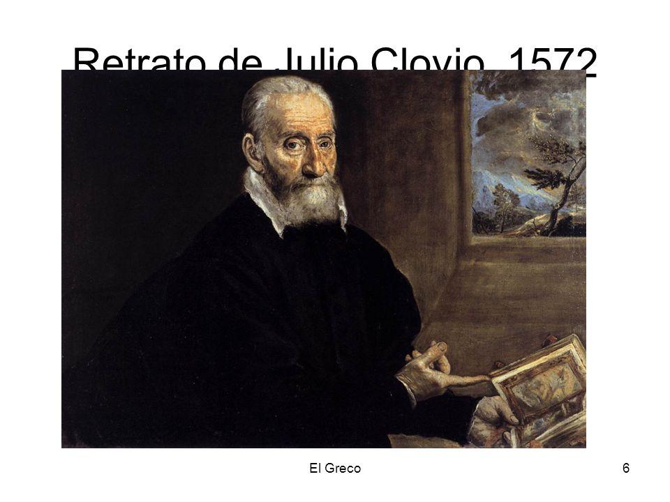 El Greco6 Retrato de Julio Clovio. 1572