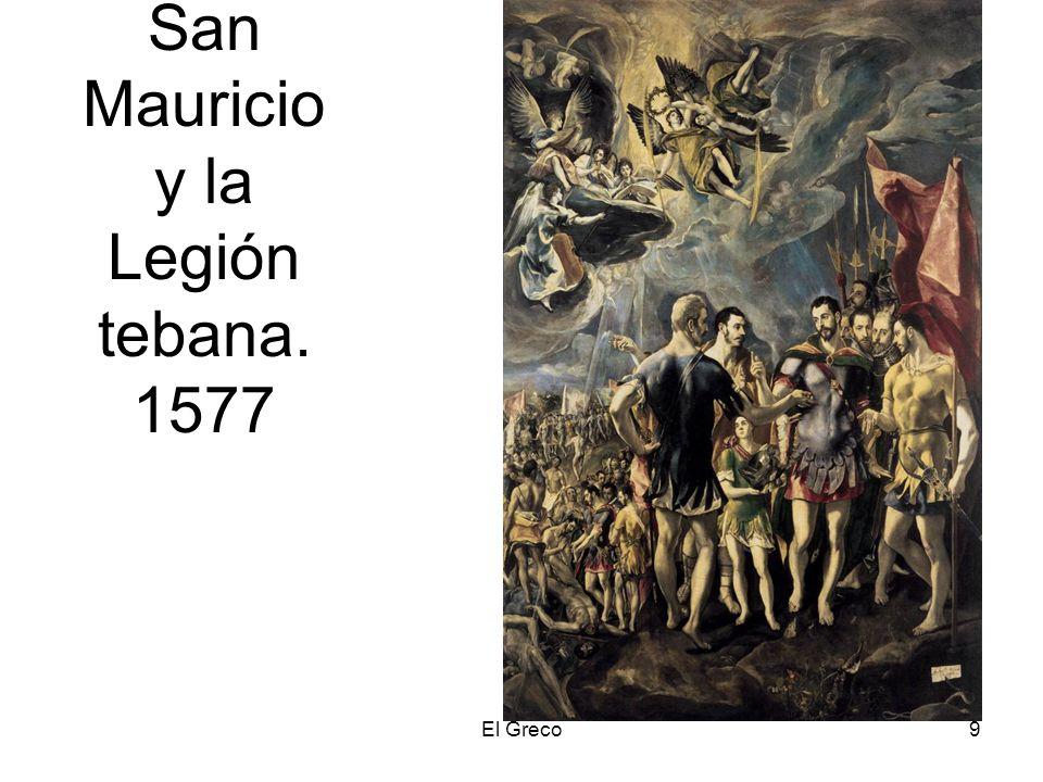 El Greco9 San Mauricio y la Legión tebana. 1577