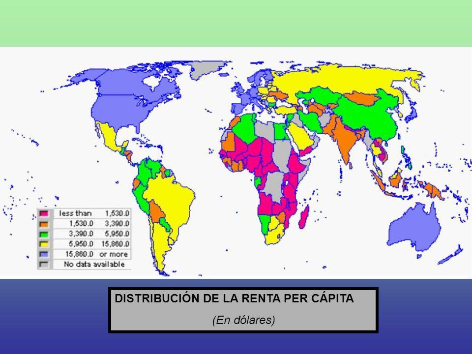 DISTRIBUCIÓN DE LA RENTA PER CÁPITA (En dólares)