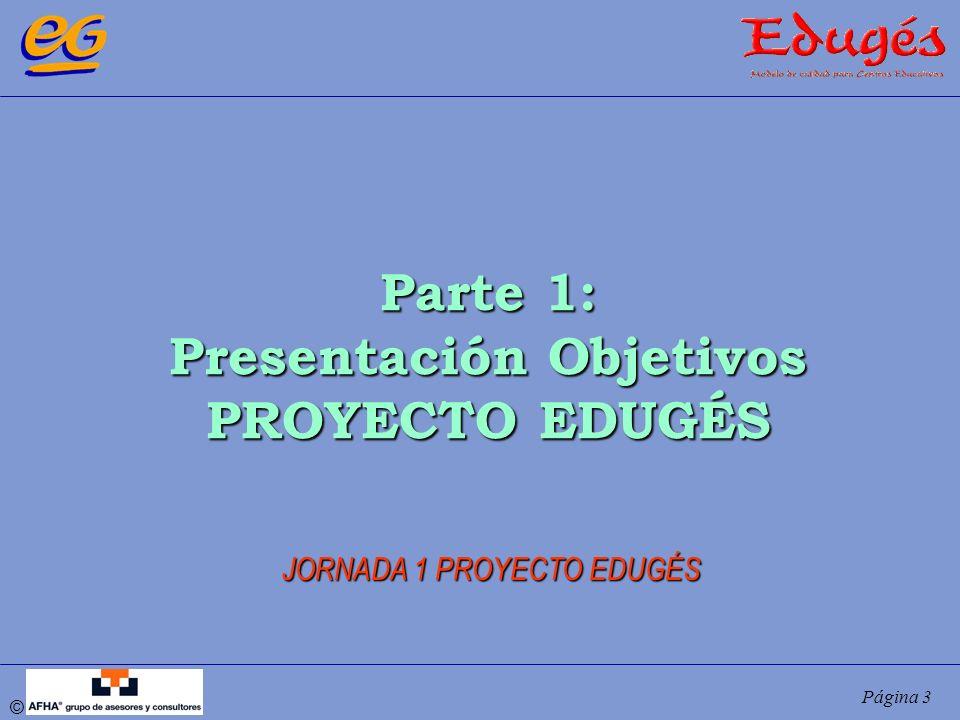 © Página 3 Parte 1: Presentación Objetivos PROYECTO EDUGÉS JORNADA 1 PROYECTO EDUGÉS