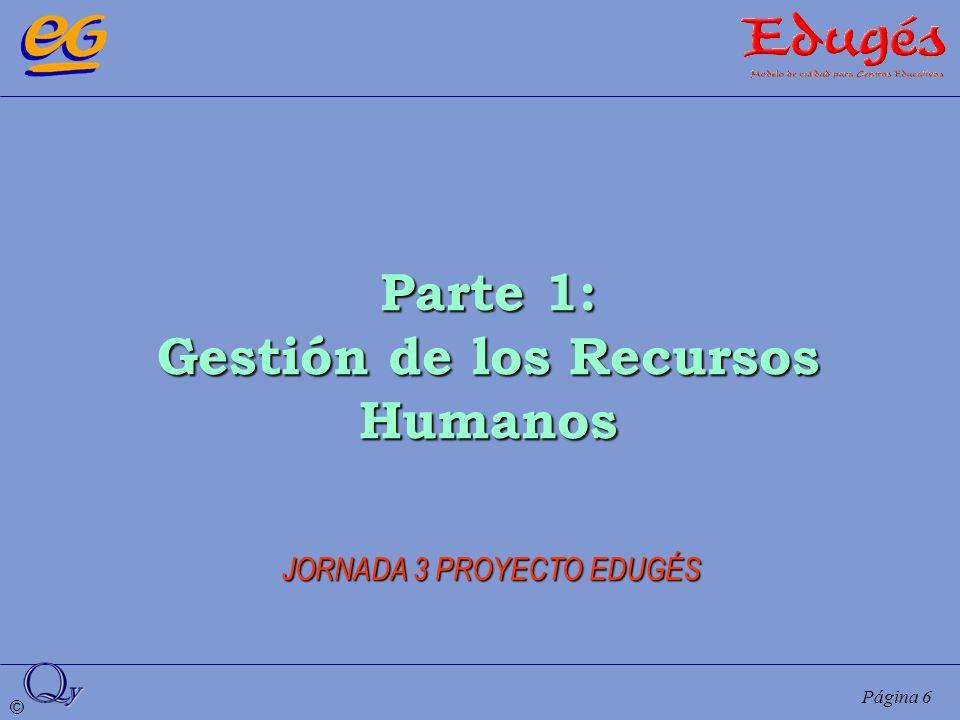 © Página 6 Parte 1: Gestión de los Recursos Humanos JORNADA 3 PROYECTO EDUGÉS