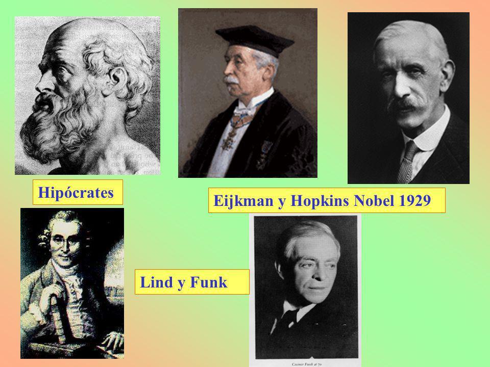 Eijkman y Hopkins Nobel 1929 Hipócrates Lind y Funk