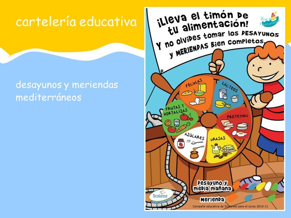 desayunos y meriendas mediterráneos cartelería educativa