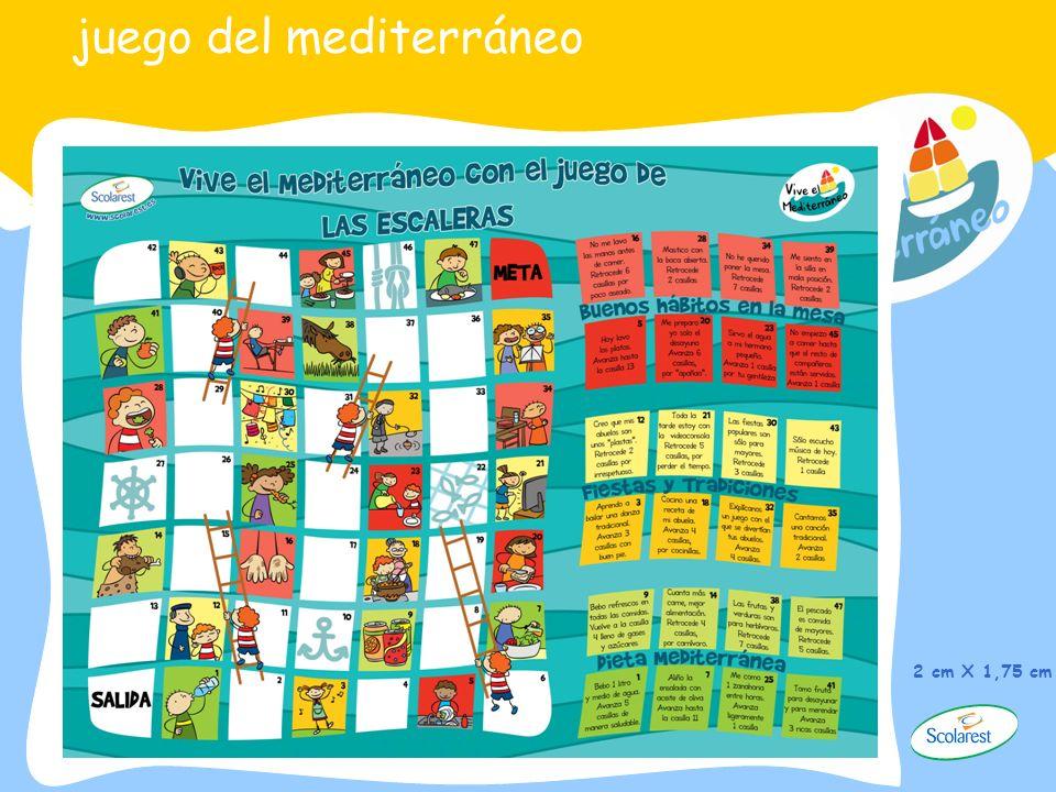 juego del mediterráneo 2 cm X 1,75 cm