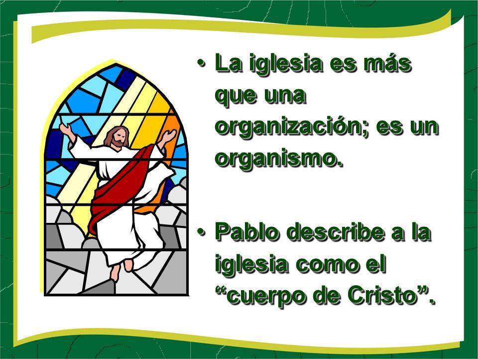 La iglesia es más que una organización; es un organismo.La iglesia es más que una organización; es un organismo.