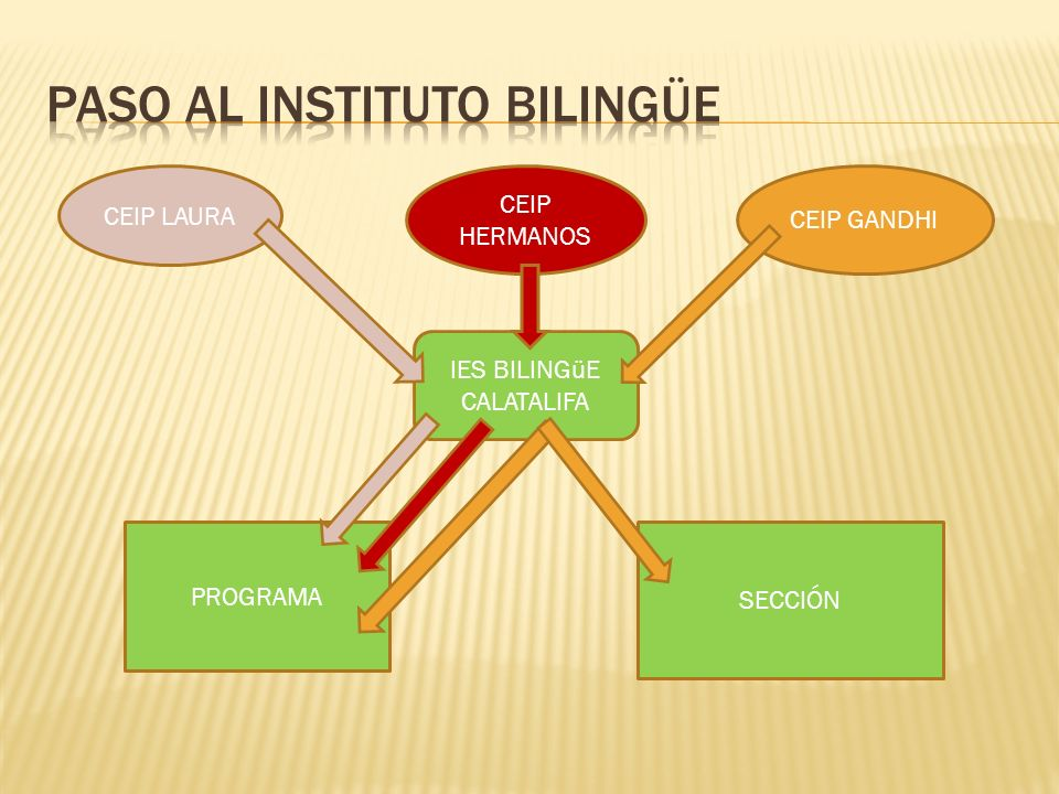 CEIP LAURA CEIP HERMANOS CEIP GANDHI IES BILINGüE CALATALIFA PROGRAMA SECCIÓN