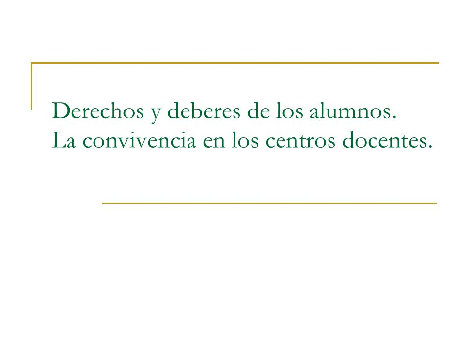 Normas de convivencia en los centros docentes de la Comunidad de Madrid Las normas de conducta.
