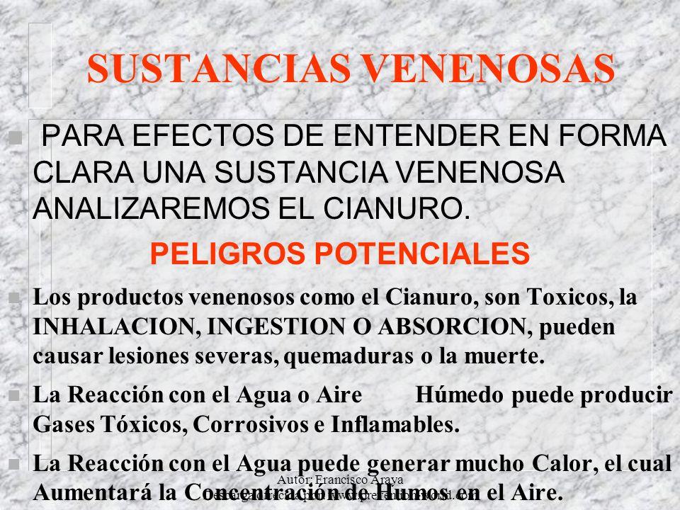Autor: Francisco Araya Descarga ofrecida por: www.prevention-world.com SUSTANCIAS VENENOSAS n PARA EFECTOS DE ENTENDER EN FORMA CLARA UNA SUSTANCIA VE