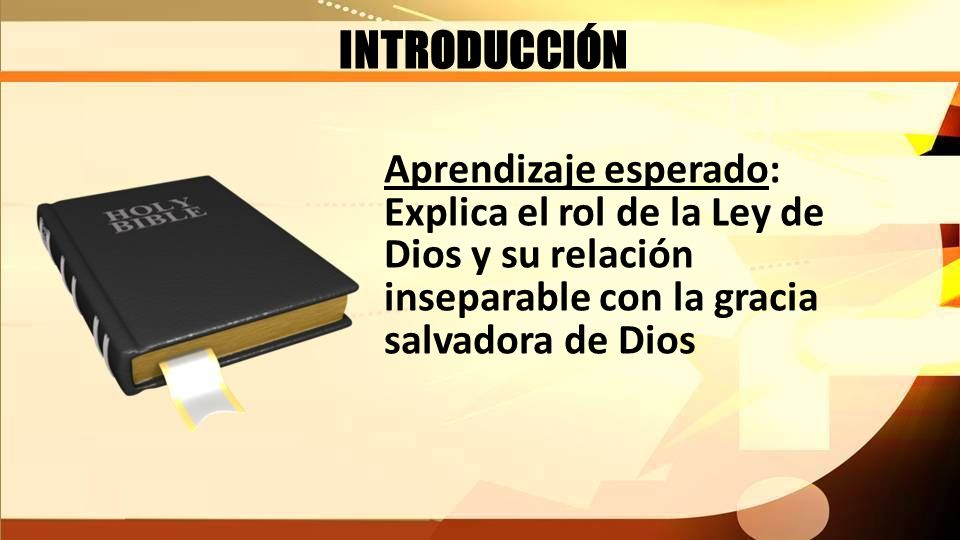 INTRODUCCIÓN Planteamiento del problema: ¿Qué dice la Biblia acerca del rol de la Ley y su relación con la Gracia salvadora de Dios?