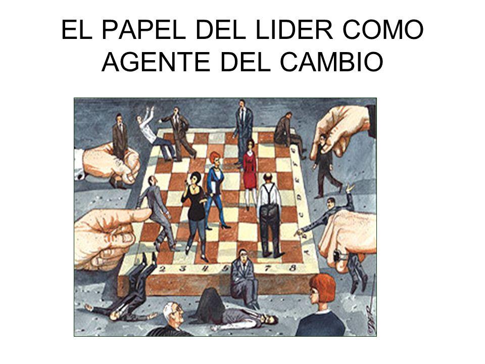 EL PAPEL DEL LIDER COMO AGENTE DEL CAMBIO