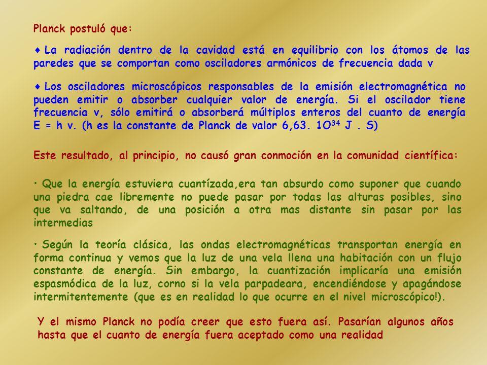 Para fines del siglo XIX, se sabía que la radiación de cuerpo negro se debía a las oscilaciones, con todas las frecuencias posibles, de las partículas