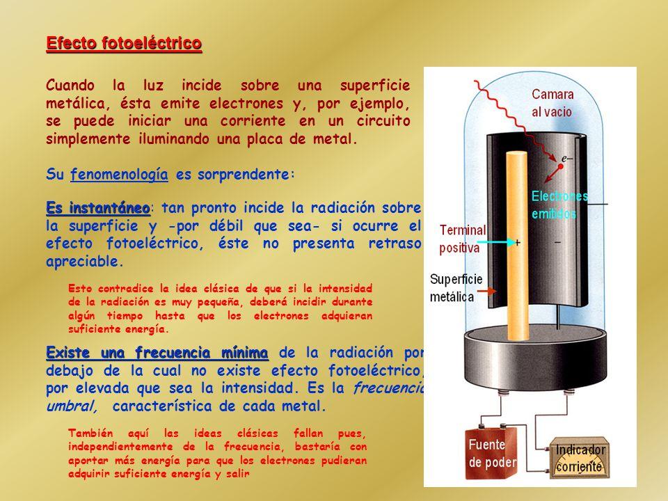Planck postuló que: La radiación dentro de la cavidad está en equilibrio con los átomos de las paredes que se comportan como osciladores armónicos de