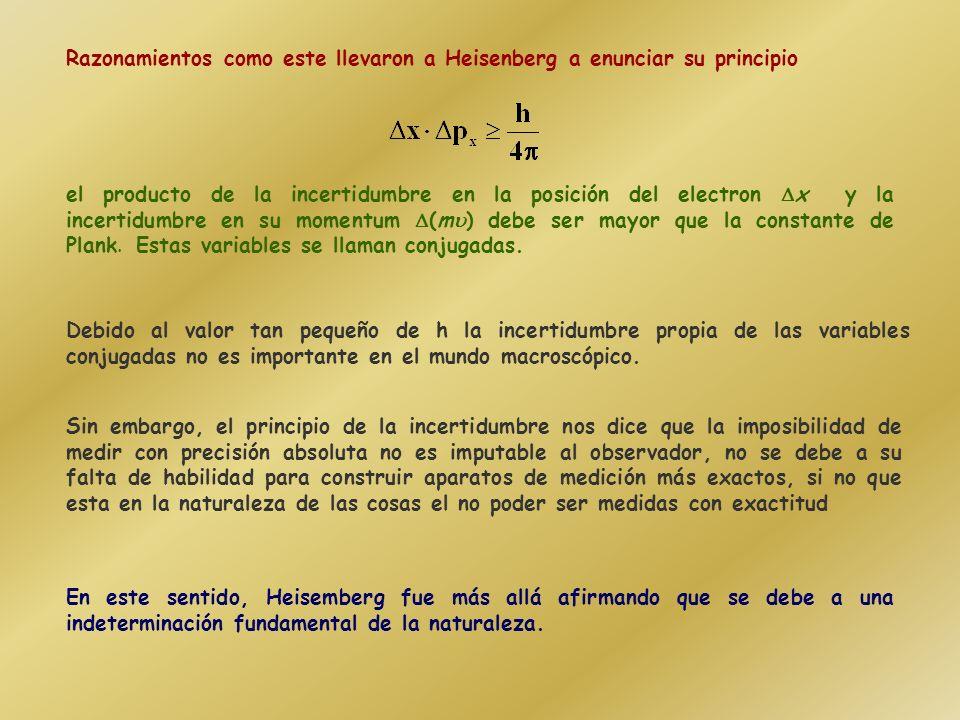 En 1925, Werner Heisenberg, consideró que la idea de los electrones orbitando alrededor del núcleo estaba fuera de lugar: no tiene sentido definir una