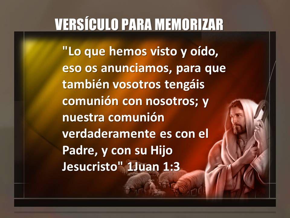 INTRODUCCION Juan quiere que conozcamos la vida eterna, la comunión y el gozo que podemos tener por medio de Jesús