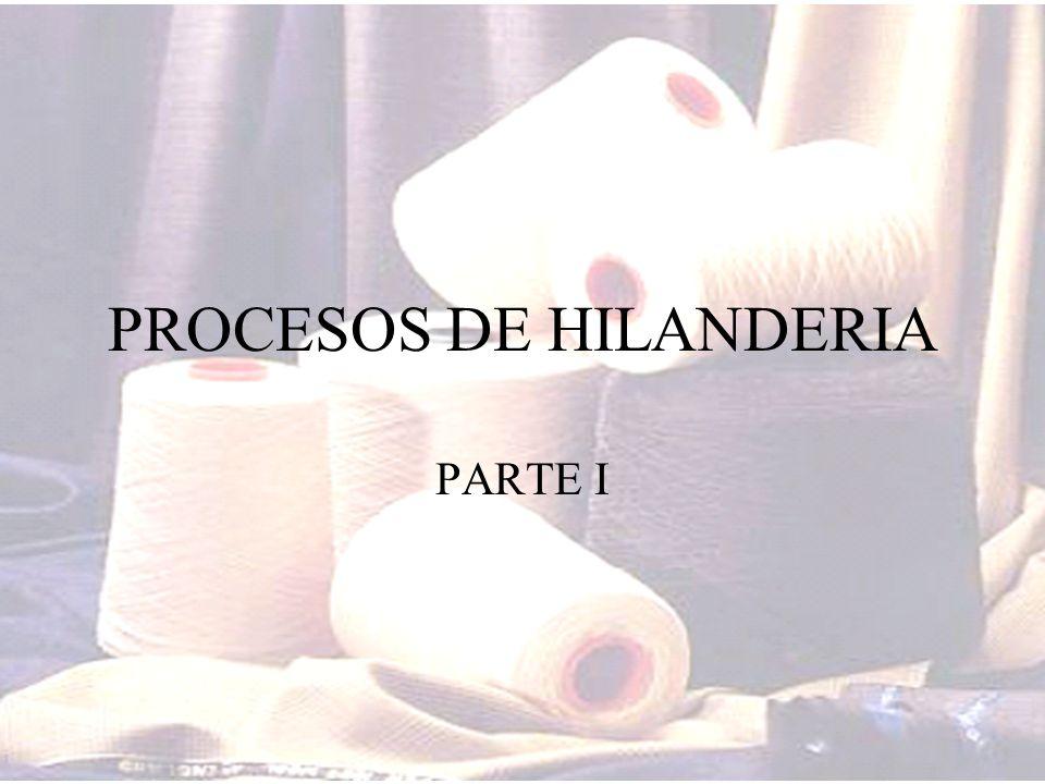 PROCESOS DE HILANDERIA PARTE I