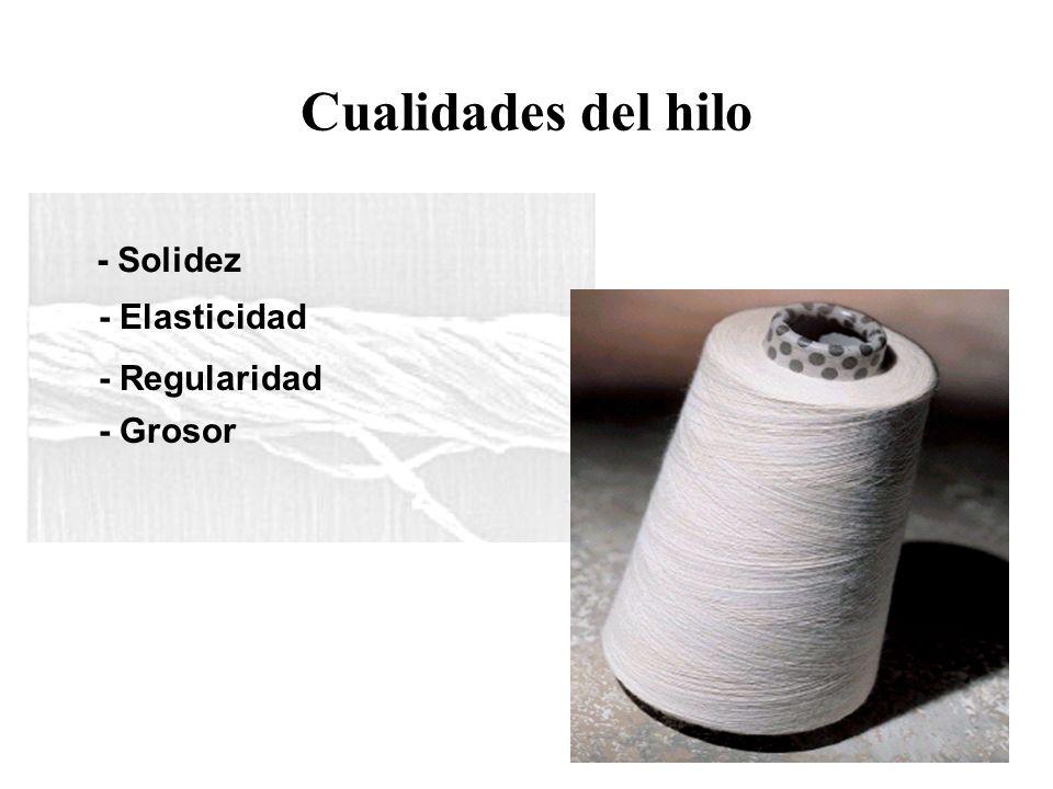 Cualidades del hilo - Solidez - Elasticidad - Regularidad - Grosor