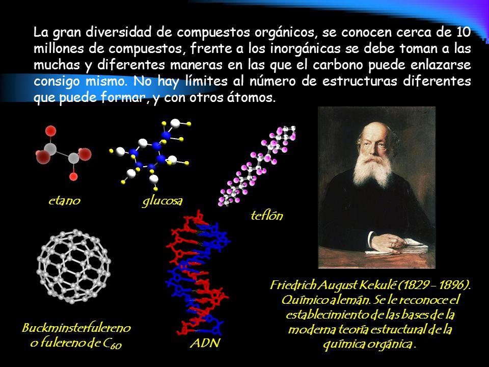 La gran diversidad de compuestos orgánicos, se conocen cerca de 10 millones de compuestos, frente a los inorgánicas se debe toman a las muchas y difer