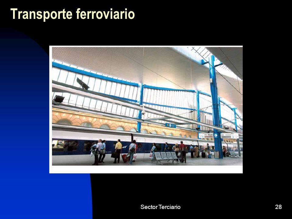 Sector Terciario28 Transporte ferroviario