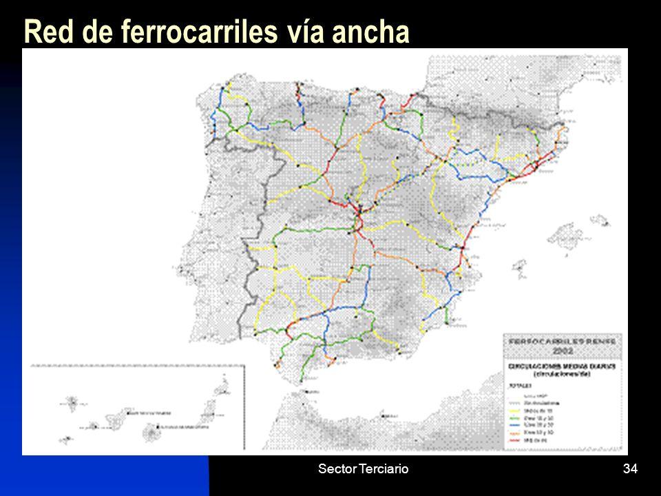 Sector Terciario34 Red de ferrocarriles vía ancha